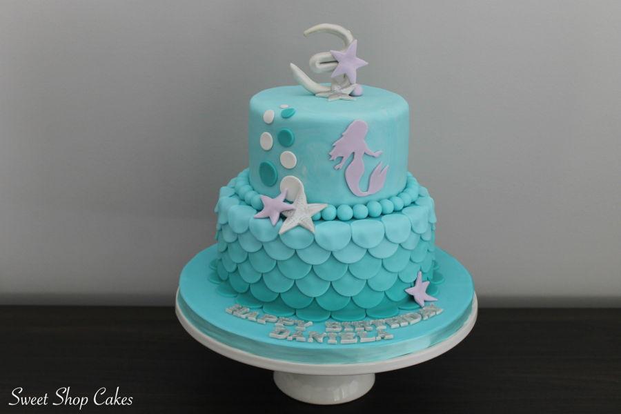 Mermaid Themed Birthday Cake Cakecentral Com