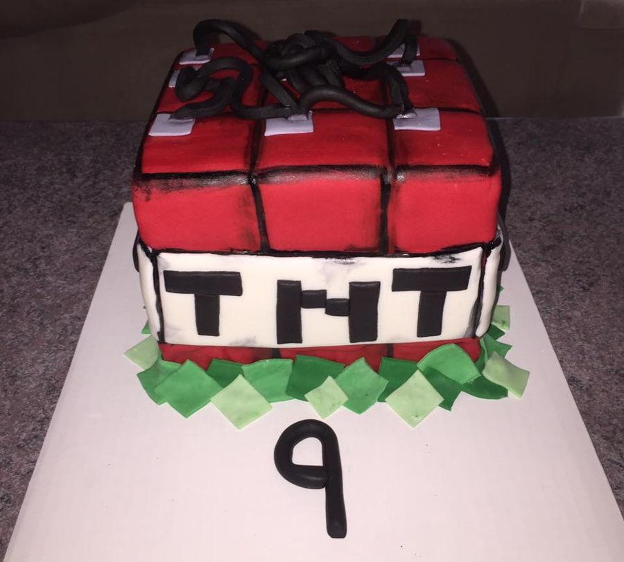Minecrafft Tnt Birthday Cake Cakecentral