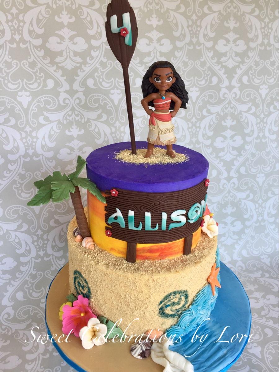 Maui Moana Birthday Cake