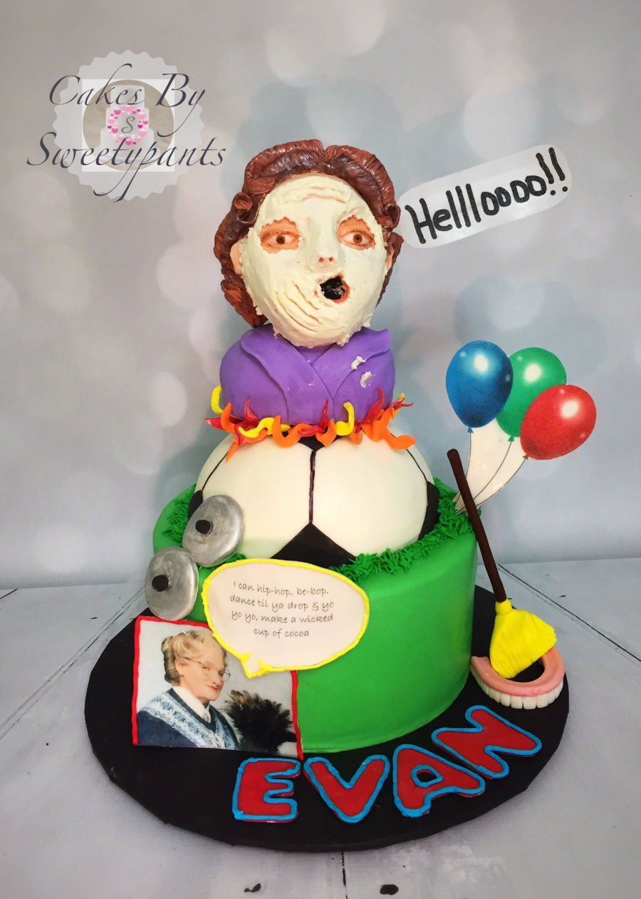 Mrs Doubtfire Inspired Birthday Cake Cakecentral Com