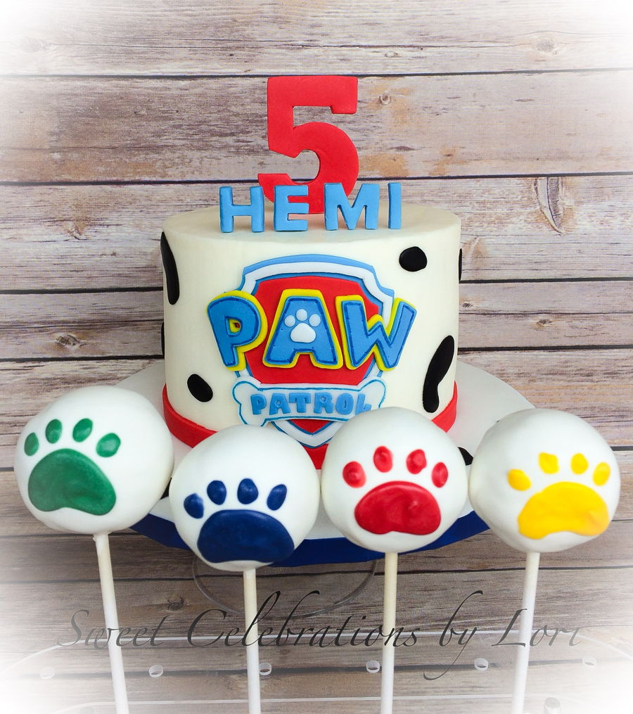 Paw Patrol Cake With Matching Cake Pops Cakecentral Com