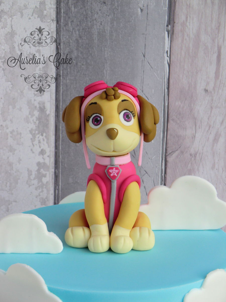 how to make skye paw patrol cake