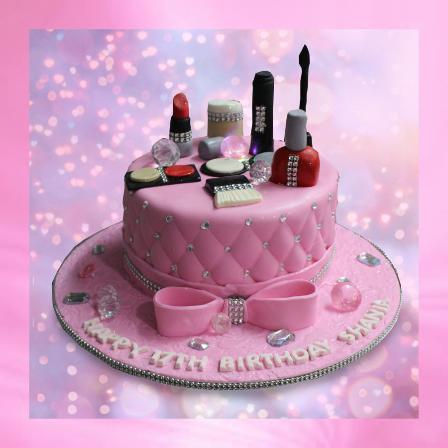 Happy Birthday Cake With Makeup
