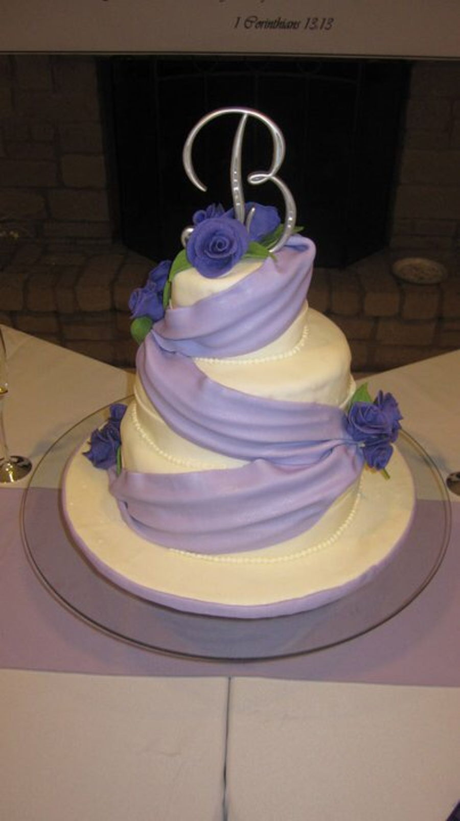wedding cake purple theme purple themed wedding cakecentral 23580