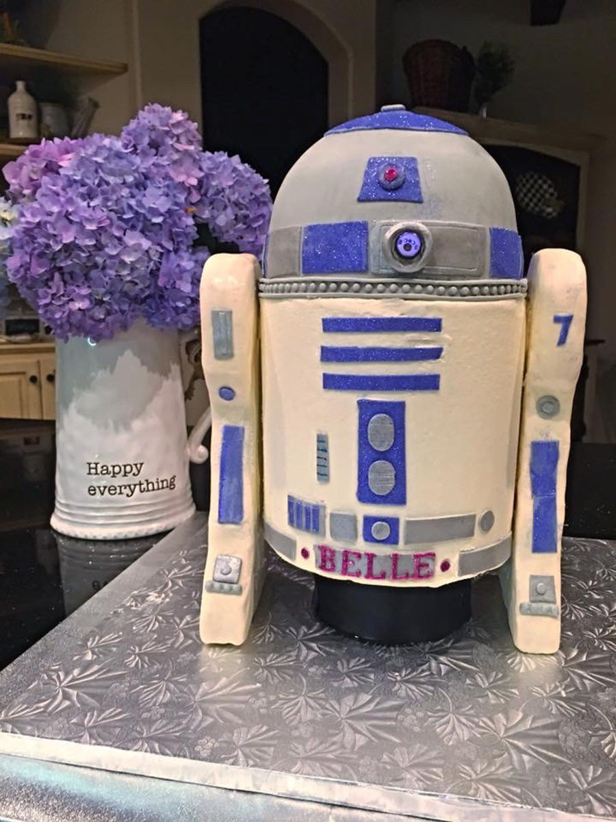 R2D2 In Purple on Cake Central