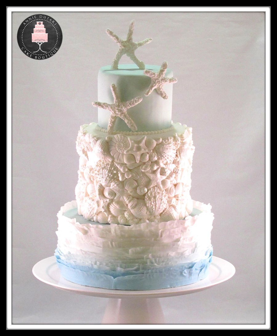 Sea Themed Wedding Cake - CakeCentral.com