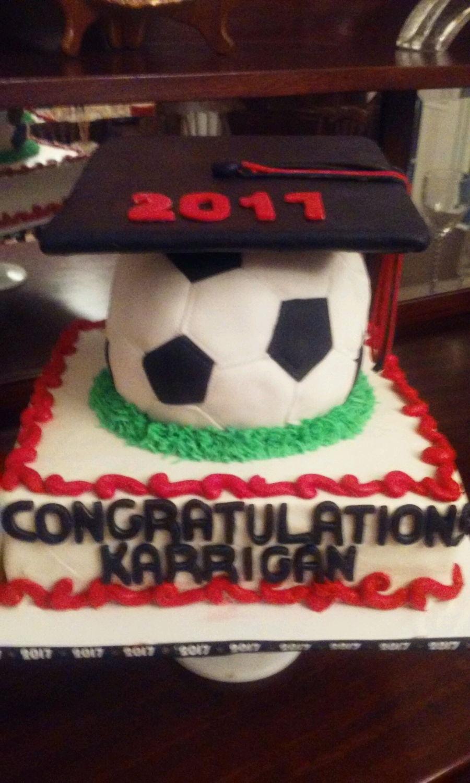Soccer Ball Graduation Cake Cakecentral Com