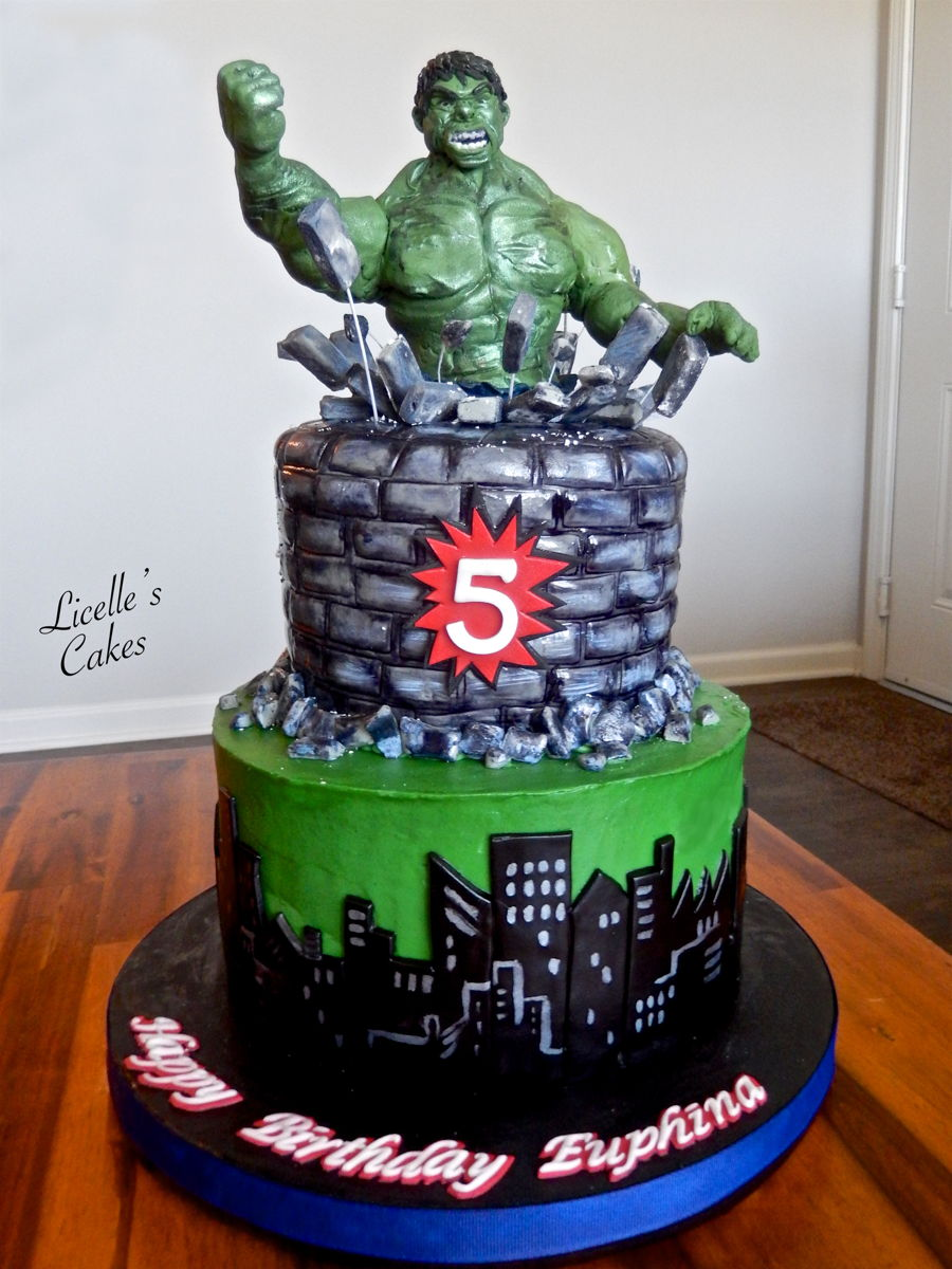 Incredible Hulk Cake Design