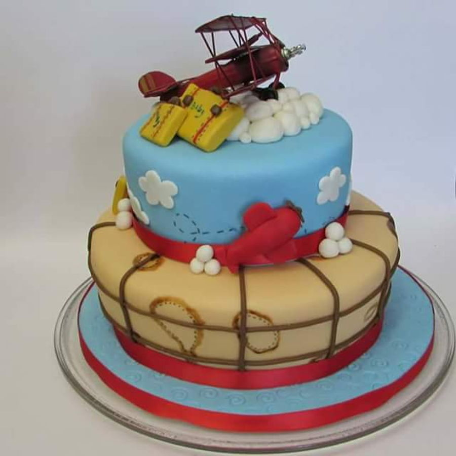 Airplane Baby Shower Cake