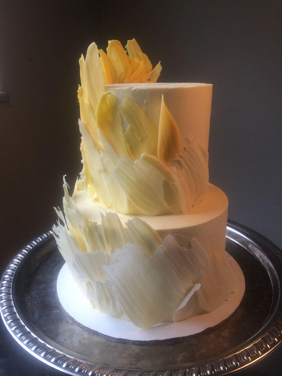 Yellow Brush Stroke Cake Cakecentral Com