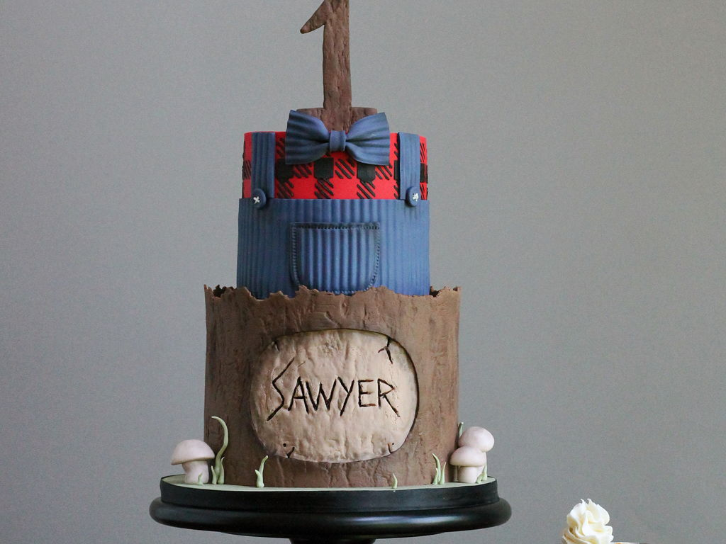 Lumberjack First Birthday Cake - CakeCentral.com