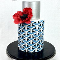 3D Geometric Cake Always wanted to make a 3d cake, and I love the way this one turned out! TFL!!