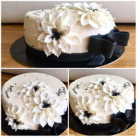 Black&white A simple black&white birthday cake...