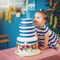 Cake Dress Sweet little baby Mia turned 2 !!!! Isn't she adorable <3 https://www.facebook.com/DeliceVarna/