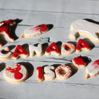 Canada 150 Custom Canada Day sugar cookies.