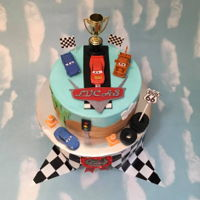 Cars Cake Made for a Make A Wish recipient - so fun!