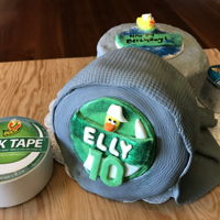 Duct Tape Duck Tape Cake My niece loves to make purses, bags and create many art items out of duct tape. So, she asked for a duct tape cake. The rolls are simply 6&...