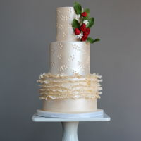 Eyelet Lace Wedding Cake Eyelet Lace Wedding Cake made for the June issue of Cake Masters out now! Eyelet lace always brings me back to the memories of catching...