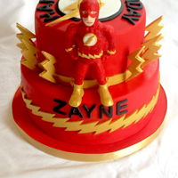 Flash Cake Flash cake with handmade fondant flash figure