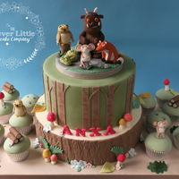 Gruffalo Cake With matching cupcakes. Heavily influenced by Zoes Fancy Cakes.