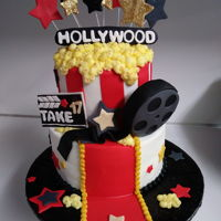 Hollywood Cake Holloywood cake for a graduation.