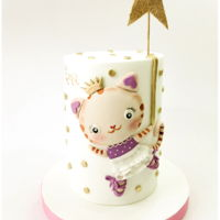 Little Tigress For Ema Double barrel cake with a cute little princess tigress design for Ema´s first birthday