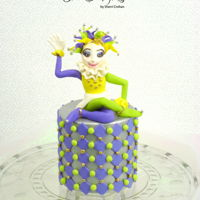 Mardis Gras I made this cake for Mardi Gras, and the topper is gum paste. TFL!!