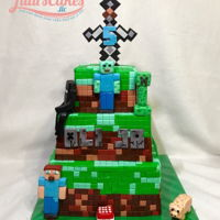 Minecraft Cake This cake took almost 30 to make. Everything is edible. Would I ever take an order like this again???? Maybe but with some changes. Hope...