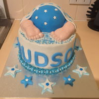 My First Order Baby shower cake, chocolate with vanilla buttercream