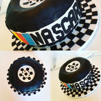 Nascar Tire Cake Groom's cake made to look like a tire for a NASCAR fan.