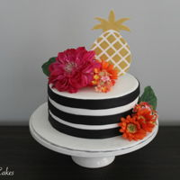 Pineapple Birthday Cake Made this cake for a friend of mine, and I love the way it turned out! I used decorative flowers on the cake. Here's a tutorial on how...