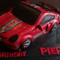 Porsche Car Cakes! I'm not a fan of car cakes as the details eat at my nerves