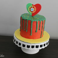 Portugal Drip Cake Made this Portugal themed drip cake for a client birthday that falls on Portugal Day! I also decided to film a tutorial for the cake.
