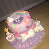 Princess And Unicorn Cake Princess and Unicorn cake for 4 year old girl