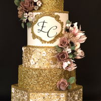 Royal Gold Wedding Cake I am so happy to have the opportunity to create this royal gold wedding cake! Spent a lot of hours in it but the bride was sooo happy &...