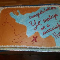 Treasure Map was asked to do this as an end of activity party cake.