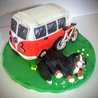 Vw Camper Van Vw camper van cake. Vanilla cake and buttercream homemade Marshmallow fondant first time using Liz marek recipe and I liked it a lot! Will...