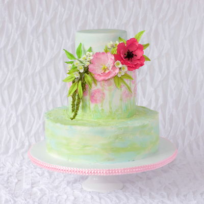 80Th Flower Birthday Cake I loved the cake on the front of the Cake Masters Magazine June 2016. A friend at church was celebrating her 80th birthday, so I decided to...