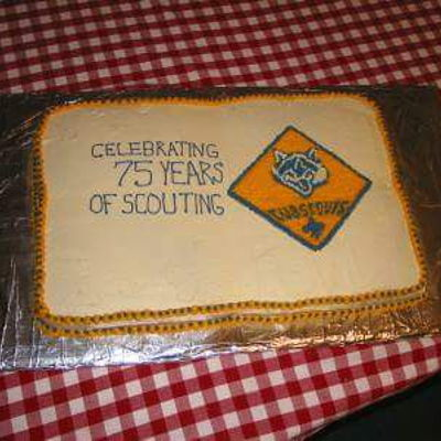 Celebration was asked two different times to do a cake for the boys scouts
