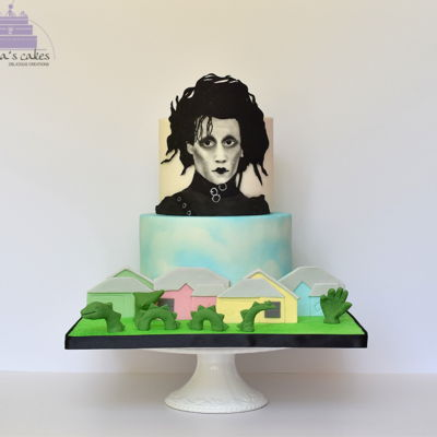 Edward Scissorhands - Cakeflix Collab This is my contribution to the Cakeflix Collaboration hosted by Isabel Tamargo.