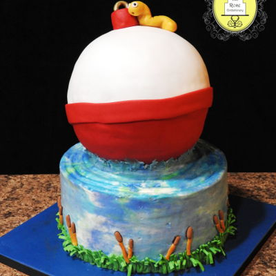 Fishing Bobber Cake