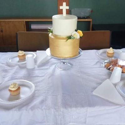 Gold Communion Cake Cake for my daughter's First Holy Communion