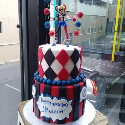 Harley Quinn Cake Made this for my beautiful Emily's10th birthday