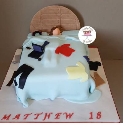 Messy Bed Cake For A Mirfield Customer. Messy bed cake for a Mirfield Customer.