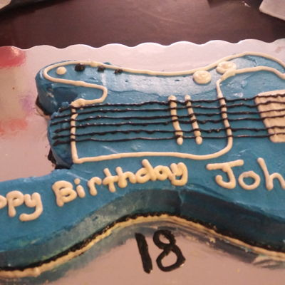 My Brother-In-Law's 18Th Birthday Cake He loves guitars.