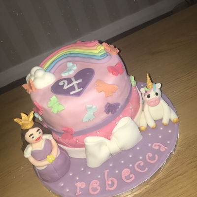 Princess And Unicorn Cake