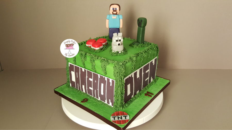 Another Minecraft Cake With A Different Design For A Mirfield Customer. on Cake Central