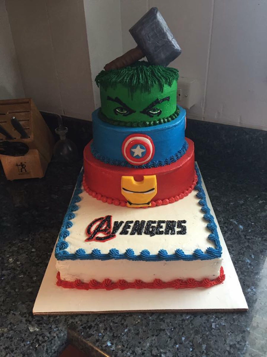 Admirable Avengers Birthday Cake Cakecentral Com Funny Birthday Cards Online Alyptdamsfinfo