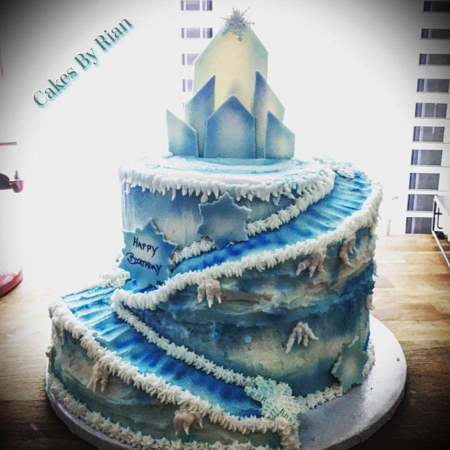 Elsa Castle Cake Decoration : Frozen Castle - CakeCentral.com
