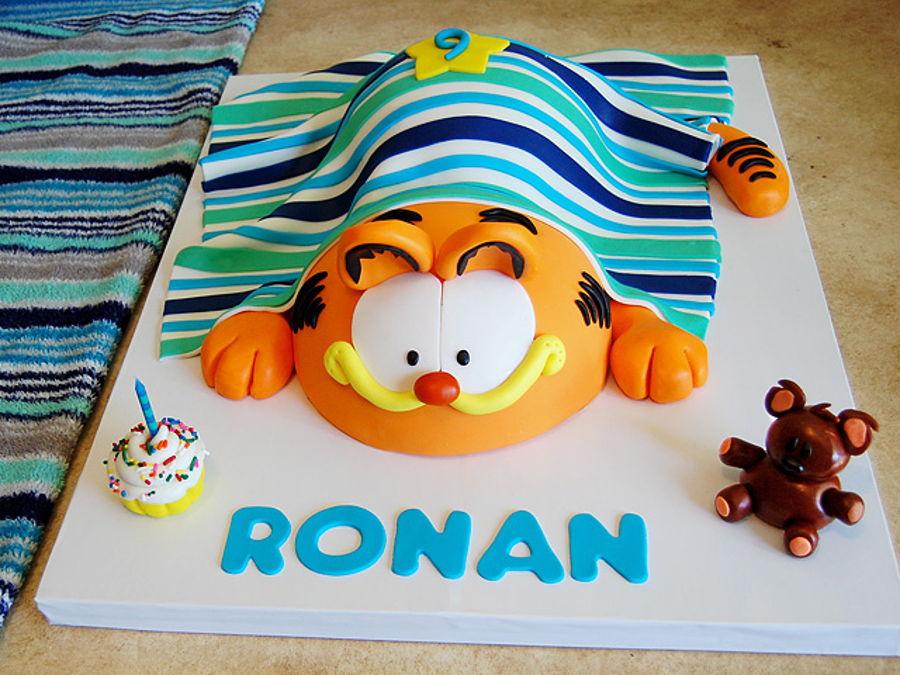 Tremendous Garfield Birthday Cake Cakecentral Com Personalised Birthday Cards Veneteletsinfo